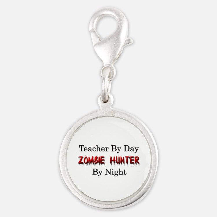 Teacher/Zombie Hunter Silver Round Charm