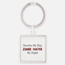 Teacher/Zombie Hunter Square Keychain