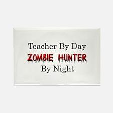 Teacher/Zombie Hunter Rectangle Magnet (10 pack)