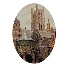 Canterbury Oval Ornament