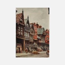 Vintage view of Chester, England Rectangle Magnet