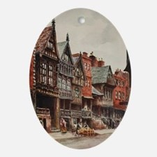 Vintage view of Chester, England Oval Ornament