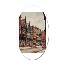 Vintage view of Chester, Eng Wall Decal