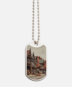 Vintage view of Chester, England Dog Tags
