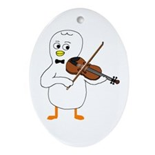 Violinist Ornament (Oval)