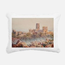 View of the Durham, Engl Rectangular Canvas Pillow