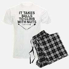 Takes Balls to Climb with Nut Pajamas