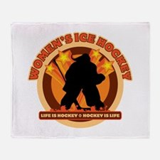 Women's Ice Hockey Throw Blanket
