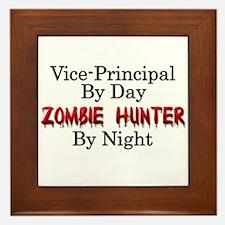 Vice-Principal/Zombie Hunter Framed Tile
