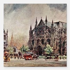 "View of Westminster Abbe Square Car Magnet 3"" x 3"""