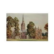 Cathedral at Salisbury, England - Rectangle Magnet