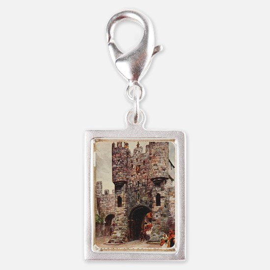 Mickelgate Bar at York, Engl Silver Portrait Charm