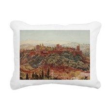 The Alhambra at Granada, Rectangular Canvas Pillow