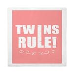 twins pink Queen Duvet