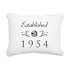 Established 1954 Rectangular Canvas Pillow