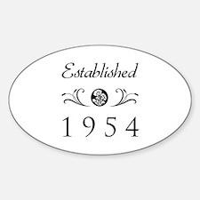 Established 1954 Decal