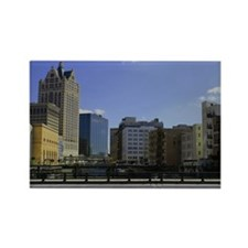 Downtown Milwaukee Rectangle Magnet