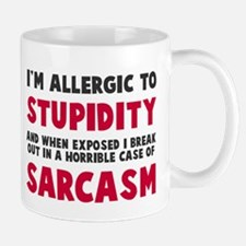Allergic to stupidity Small Small Mug