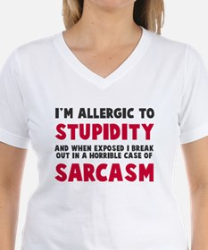 Allergic to stupidity Shirt