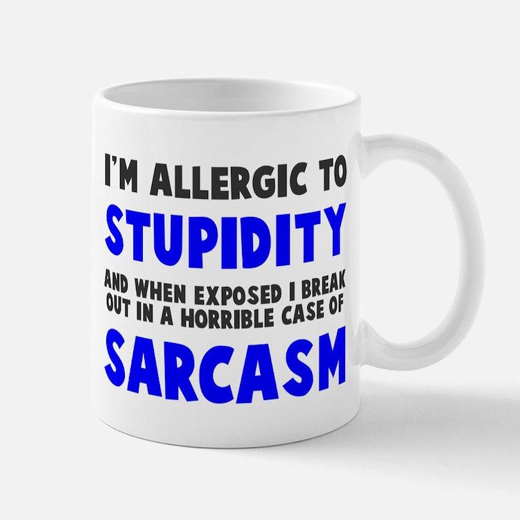 Allergic to stupidity Small Small Mug