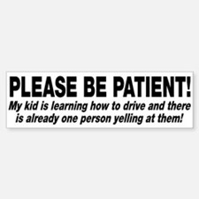 Be Patient Kid Driver Car Car Sticker