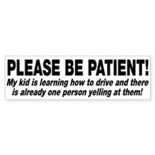 Be Patient Kid Driver Car Sticker