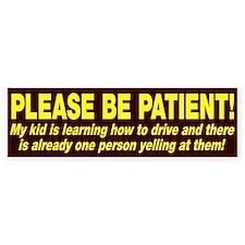 Be Patient Kid Driver Car Car Sticker
