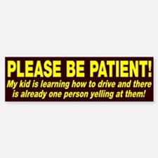 Be Patient Kid Driver Sticker (Bumper)
