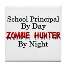 School Principal/Zombie Hunter Tile Coaster