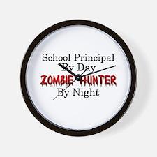 School Principal/Zombie Hunter Wall Clock