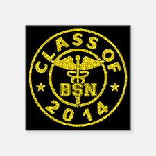 "Class Of 2014 BSN Square Sticker 3"" x 3"""