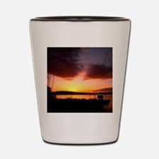 Sunset Over the Lake Shot Glass