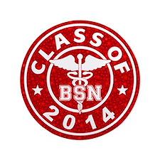 """Class Of 2014 BSN 3.5"""" Button (100 pack)"""
