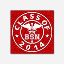 "Class Of 2014 BSN Square Sticker 3"" x 3"""