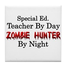 Special Ed. Teacher/Zombie Tile Coaster
