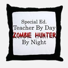 Special Ed. Teacher/Zombie Throw Pillow