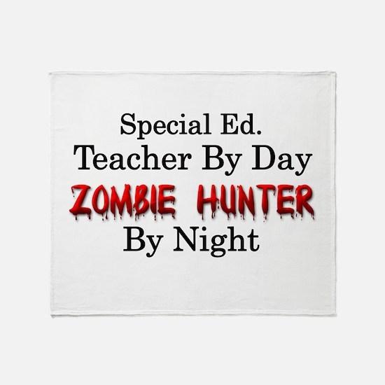 Special Ed. Teacher/Zombie Throw Blanket