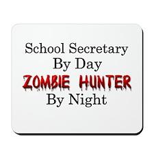 School Secretary/Zombie Hunter Mousepad