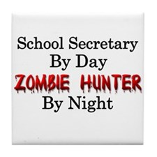School Secretary/Zombie Hunter Tile Coaster