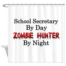 School Secretary/Zombie Hunter Shower Curtain