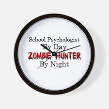 School Psychologist/Zombie Hunter Wall Clock