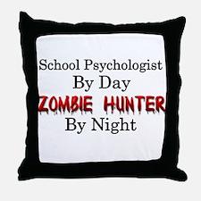 School Psychologist/Zombie Hunter Throw Pillow