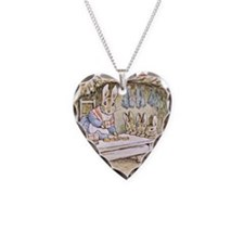 Flopsy, Mopsy, Cotton-tail, a Necklace Heart Charm