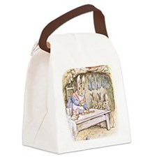 Flopsy, Mopsy, Cotton-tail, and P Canvas Lunch Bag
