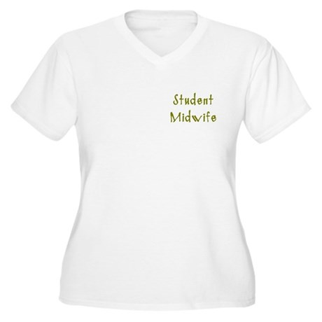 Student Midwife Women's Plus Size V-Neck T-Shirt