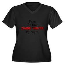 Para/Zombie Women's Plus Size V-Neck Dark T-Shirt