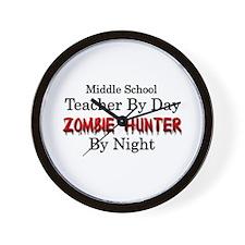 Middle School Teacher/Zombie Hunter Wall Clock