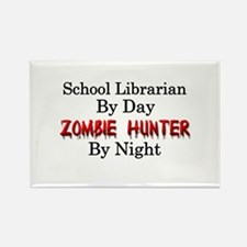 School Librarian/Zombie Hunter Rectangle Magnet