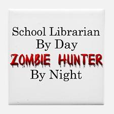 School Librarian/Zombie Hunter Tile Coaster