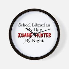 School Librarian/Zombie Hunter Wall Clock